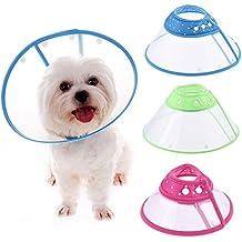 Collar isabelino con bordes transpirables y suaves, cierre de presión, de plástico, para perros y gatos