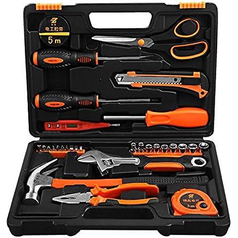 SOLUDE Hardware herramienta componente Kit 31 pieza herramienta del hogar set de reparación manual eléctrico juego de