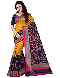 Shiya Women's Raw Silk Saree With Blouse Piece (Bhagalpuri Sarees 34_Multi Color)