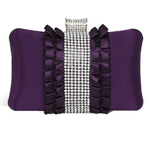 Moda Donna Borsa Del Partito E Frizione Di Cerimonia Nuziale Purple