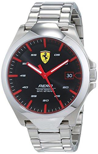 Scuderia Ferrari Unisex Analog Quarz Uhr mit Edelstahl Armband 830507