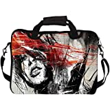 """Snoogg Woman Artistic 10"""" 10.5"""" 10.6"""" Inch Laptop Notebook SlipCase With Shoulder Strap Handle Sleeve Soft Case With Shoulder Strap Handle Carrying Case With Shoulder Strap Handle For Macbook Pro Acer Asus Dell Hp Sony Toshiba"""