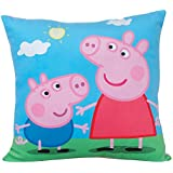 Fun House 712556Peppa Pig Cojín cuadrado para niños peluche azul 35x 35x 11cm)