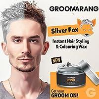 Groomarang Silver Fox Instant Free stile capelli styling & colorante grigio cera temporanea tintura sposo-41