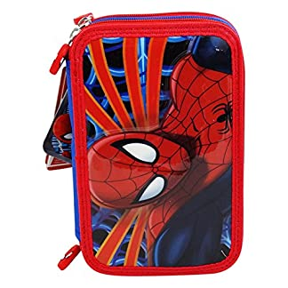 DC Comics Spiderman Estuche Escolar Làpices de colores Plumier triple