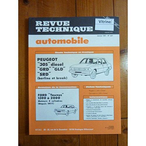 RTA0407 - REVUE TECHNIQUE AUTOMOBILE PEUGEOT 305 Diesel GRD - GLD - SRD Berline et break