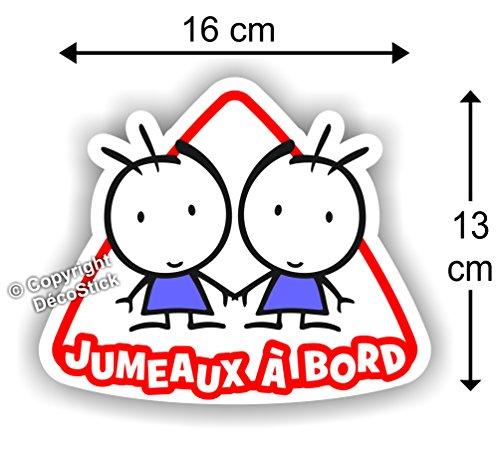 Jumeaux à bord Garçon / Garçon - Sticker Autocollant bébé à bord modèle 1