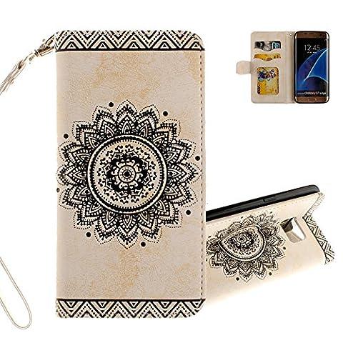 Aeeque® Pochette pour Samsung Galaxy S7 Edge Coque Blanc, Fashionable