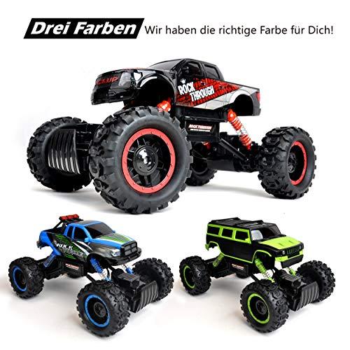 RC Auto kaufen Crawler Bild 5: Maximum RC Ferngesteuertes Auto für Kinder - 4WD Monstertruck - XL RC Auto für Kinder ab 8 Jahren - Rock Crawler (rot)*
