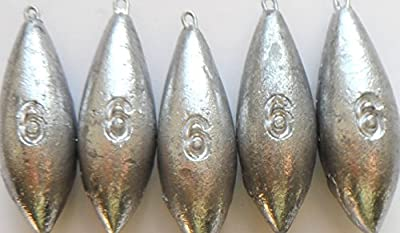 6oz Plain Sea Fishing Weights Pack Of 5 by fishwithfinn