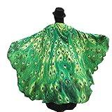 SHOBDW Schmetterling Kostüm, Frauen Schmetterling Flügel Schal Schals Nymphe Pixie Poncho Kostüm Zubehör für Show/Daily / Party (Grün)