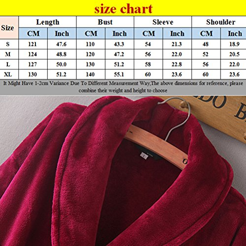 Zhhlaixing Unisex Plus Size Thick Supersoft Housecoat Fleece Bath Robe Vestaglia Women's Men's Extended Thick Bathrobe Purple