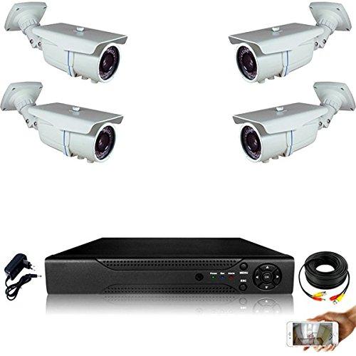 Kit-videovigilancia-4-Cmaras-tubos-Pro-Full-AHD-1080P-Sony-24-MP--2000-GB-incluye-1-cable-de-40-M-3-x-20-m-sin-pantalla