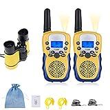 joyoldelf Walkie Talkie Bambini e Binocolo Bambini PMR446MHz 8 Canali Display LCD VOX Radio Ricetrasmittenti Regalo di Giocattoli per Ragazzi Ragazza