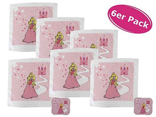 itsisa 6er Packung Magisches Handtuch Prinzessin (z.B. für den Kindergeburtstag)