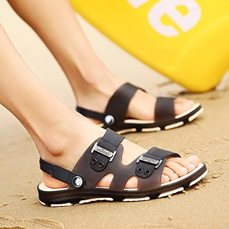 fankou Summer Sandals Men's Sandals Cleat Men's Outdoor Plastic Wear Cool Summer Bath Slippers Beach Shoes, 44...