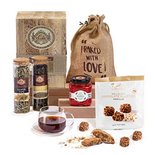 Diwali Luxury Tea & Biscuits, Chocolate Festival of Lights Hamper Gift Box