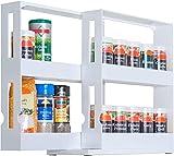 UPP®, portaspezie estensibile universale, mensola da cucina, per medicinali, da bagno, per nicchia