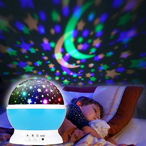 Sternenhimmel Projektor, Projektor Lampe LED Sternenhimmel Projektor Nachtlicht 360° Rotierend Projektionslampe Romantische LED Perfekt für Party,Kinderzimmer,Weihnachten