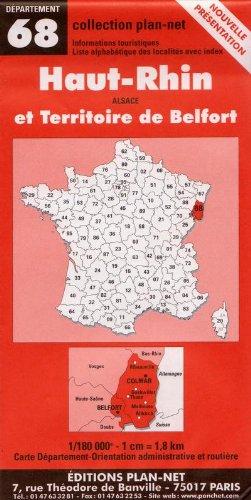 Carte routière : Haut-Rhin - Territoire de Belfort