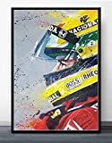 Nessuna Cornice Mclaren Campione del Mondo Ayrton Senna Poster F1 Formula Auto da Corsa Poster e Stampe su Tela di Arte della Parete re Decorazioni per la casa60x90cm