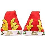 2Stk Weihnachtsmütze Nikolaus Mütze Kinder Kopfbedeckung für Weihnachten, Party, Neues Jahr, Fest, Familie