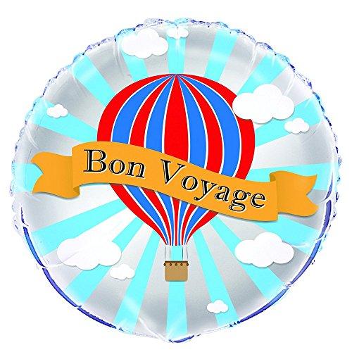18Folie Hot Air Ballon Bon Voyage ()