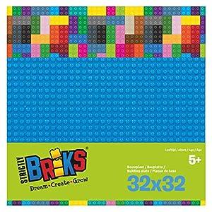 Strictly Bricks ST-LBP32BL - Plato bajo (32 x 32 cm), Color Azul