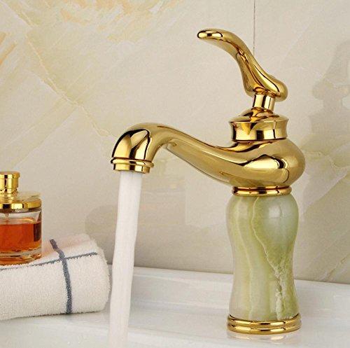 tutto il rame Jade Ascensore stile placcato oro bagno caldo e rubinetto Sink (2 2.5 Ascensore)