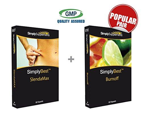 SimplySupplements SlendaMax|60 Kapseln|Enthält hohe Anteile von Acai Beeren, Apfelessig & Grün Tee + Burnoff| 60 Kapseln|Natürlicher Zitrusfrüchte-Extrakt