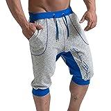 Juleya Pantalon Court Bermuda Homme - Sport Jogging Shorts Pantacourt Poches Casual Décontracté Fitness Shorts Pantalon Été M-2XL