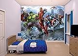 Walltastic Avengers Assemble Carta da Parati Murale, Carta,, 52.5x7x18 cm