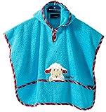 Morgenstern Hochwertiger Frottee - Bade - Poncho aus 100% Baumwolle, Farbe Türkis, Motiv Schaf, Größe One Size (ca. 1 bis 3 Jahre)