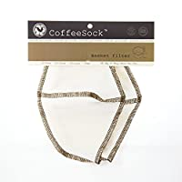 CoffeeSock Basket 6-12 cup- GOTS Certified Organic Cotton Reusable Coffee Filters.