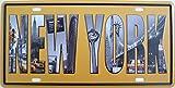 Blechschild 30x15,5cm - New York Taxi USA vintage shabby retro