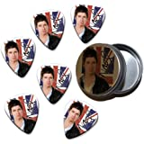 Noel Gallagher Oasis High Flying Birds 6 X Celluloid Guitar Pick in Tin ( Flag Design )
