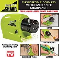 Kihika Swifty Sharp Motorized Knife Sharpener and Includes CATCH-TRAY for Metal Shavings