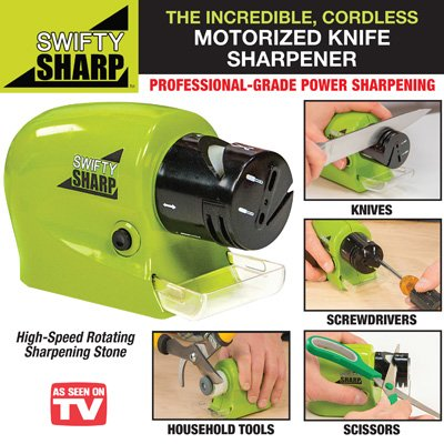 Stvin Swifty Sharp Motorized Knife Sharpener and Includes CATCH-TRAY for Metal Shavings