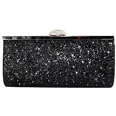 f149c7222e Image Unavailable. Image not available for. Colour: Wocharm Womens Evening  Bridal Prom Party Glitter Clutch Bag ...