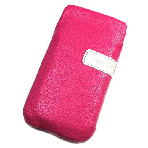 Schutzhülle Tasche Lederoptik rosa L für HTC Legend