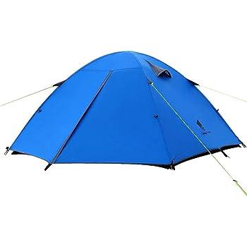 GEERTOP Kuppelzelt Campingzelt Trekkingzelt Familienzelt Wasserdichtes - 180 x 210 x 120 cm (2,5kg) - Drei person 3 Jahreszeiten Ideal für Camping Wandern Reisen