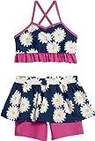 Playshoes Baby-Mädchen Bikinislip UV-Schutz Bikini Margerite, Blau (Marine 11), 86 (Herstellergröße: 86/92)