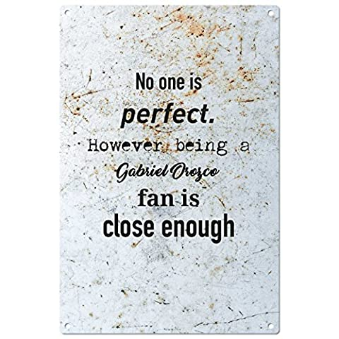 No one is perfect but….Gabriel Orozco vintage decorative wall plaque - ready to hang