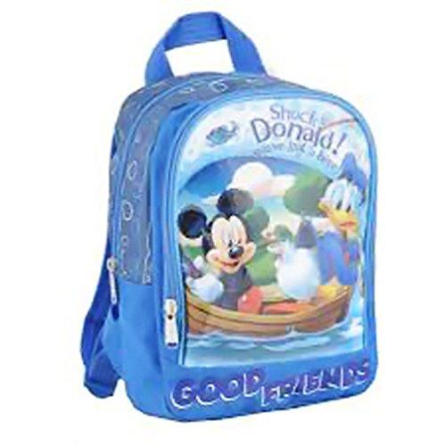 Mickey und seine Freunde–Schulranzen 2Fächer Mickey & Donald Urlaub am See
