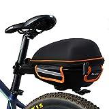 West Biking Outdoor Fahrrad & MTB Satteltasche Back Seat Schwanz Tasche + Reflektierende Streifen Paket + Regenschutz Blau Rot Grün, schwarz / orange
