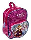 Undercover FRUW7134 Rucksack mit Vortasche und Glitzereffekt, für Schule und Freizeit, Disney Frozen II mit Anna und ELSA Motiv, ca. 23,5 x 28 x 11 cm, pink
