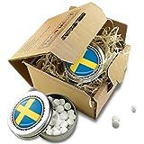 FAN MINT | 2er Set Pfefferminz Bonbons mit Schweden Fahne | Fußball WM Fanartikel 2018 Schweden | WM Russland