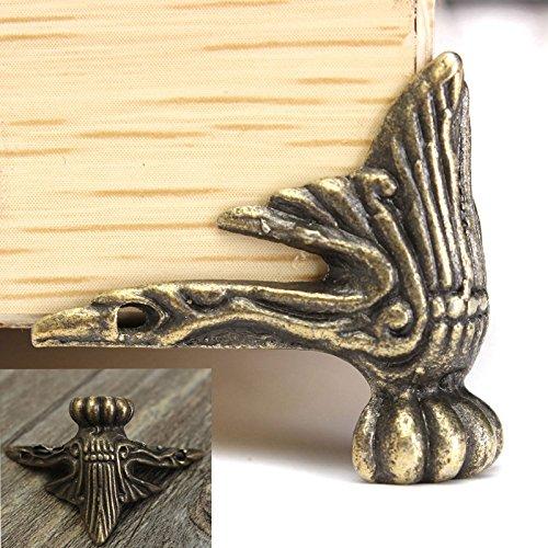 4 ST Antik Messing Schmuck Fuß Bein für Schmuckkasten Möbel Dekore