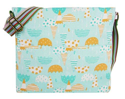 Kukubird Vari Animali Ancoraggio E Ombrello Crossbody Design Top-manico A Tracolla Del Totalizzatore Turquoise Umbrella