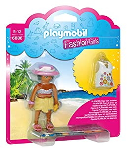 Playmobil Tienda de Moda- Beach Fashion Girl Playset de Figuras de Juguete, Multicolor, 15 x 4 x 16,8 cm (Playmobil 6886)